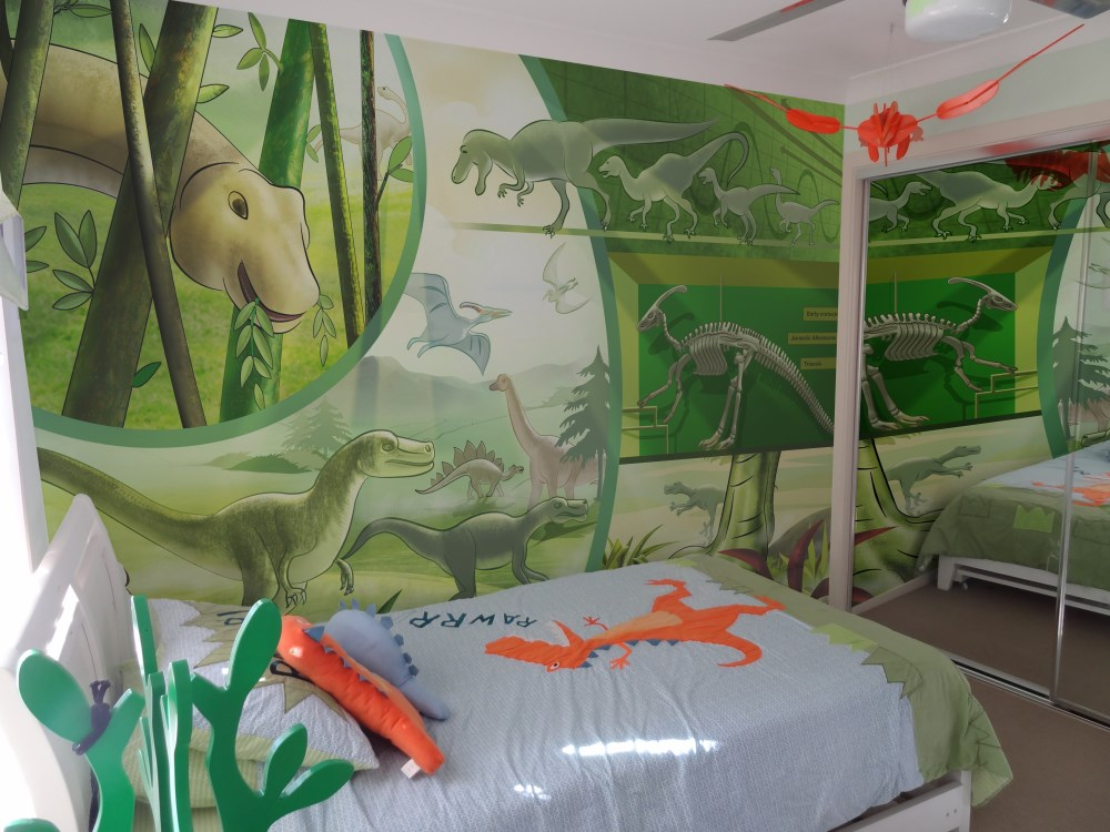 Wedowallpaper kids wallpaper dinosaurs, cartoon dinosaurs, kids bedroom